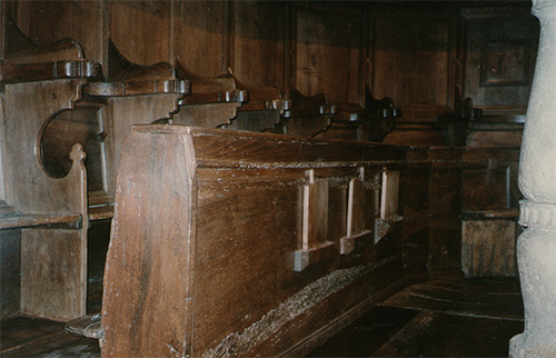 The XVI century Wooden Choir ASSISI